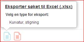 Nedlasting til excel (xsls eller csv fil)