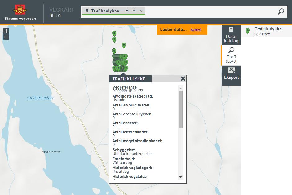 NVDB har 5.570 trafikkulykker midt i skauen i Nordmarka