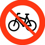 No cycling allowed.