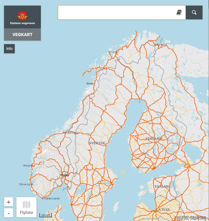 Utenfor Norges grenser viser vi nå data fra Open Street Map